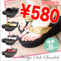 JEFFERYWEST 5644 BLK GOLD SIL RED サンダル